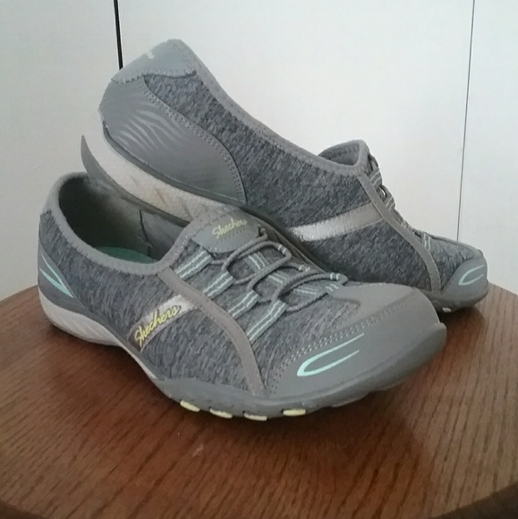 skechers gray memory foam sneakers